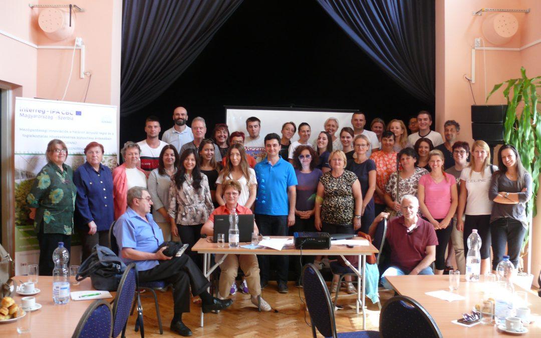 Képzés Termékfeldolgozás, piacra juttatás témában Magyarországon