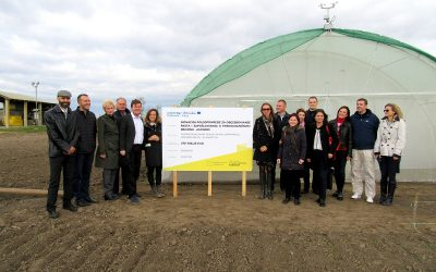 A plastic-covered greenhouse presented and a workshop organized as part of the AGRINNO project